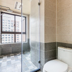 淡雅美式二居卫浴设计图