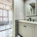 淡雅美式二居卫浴设计图片