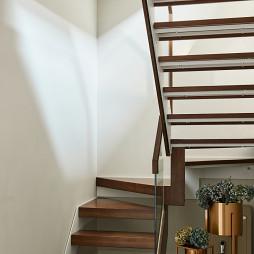 轻奢现代四居楼梯设计图