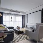 简单现代三居客厅设计实景图