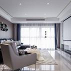 简单现代三居客厅实景图片