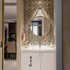 简单现代三居洗手台设计图片