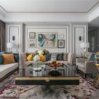 淡雅美式客厅设计图