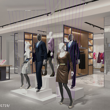 上海服装集团展厅设计_3151420