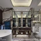 万科玖西堂叠拼样板间卫浴设计图片