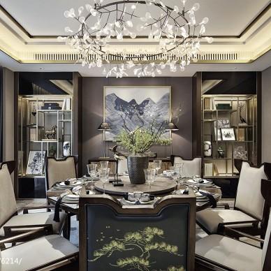 万科玖西堂叠拼样板间餐厅设计图