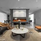 现代两居客厅设计实景图片