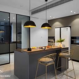 现代两居吧台设计图