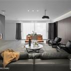 现代两居客厅设计实景图