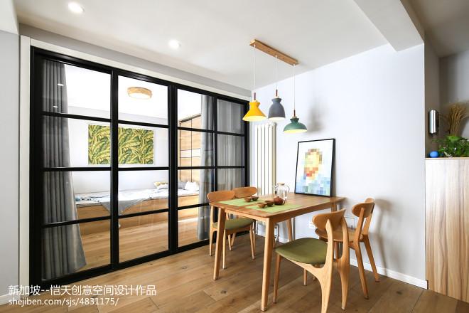 简单现代二居餐厅设计图片