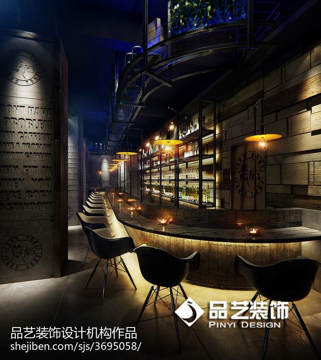 复古咖啡厅装修效果图_200万元餐饮空间500平米装修案例_效果图 - 音乐餐吧设计 - 设计本
