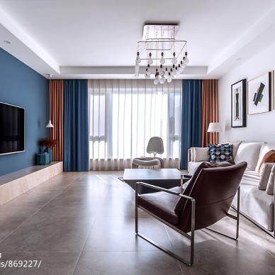 静谧现代客厅设计实景图