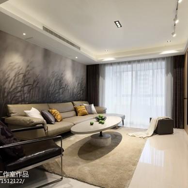 120平方现代客厅设计实景图