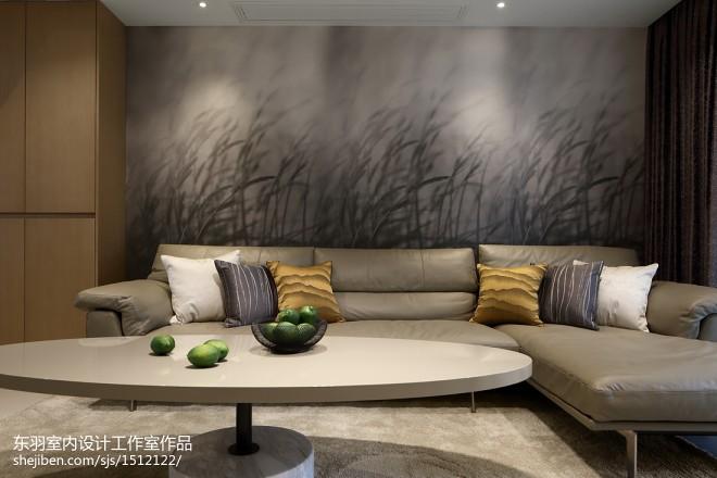 120平方现代客厅沙发设计实景图