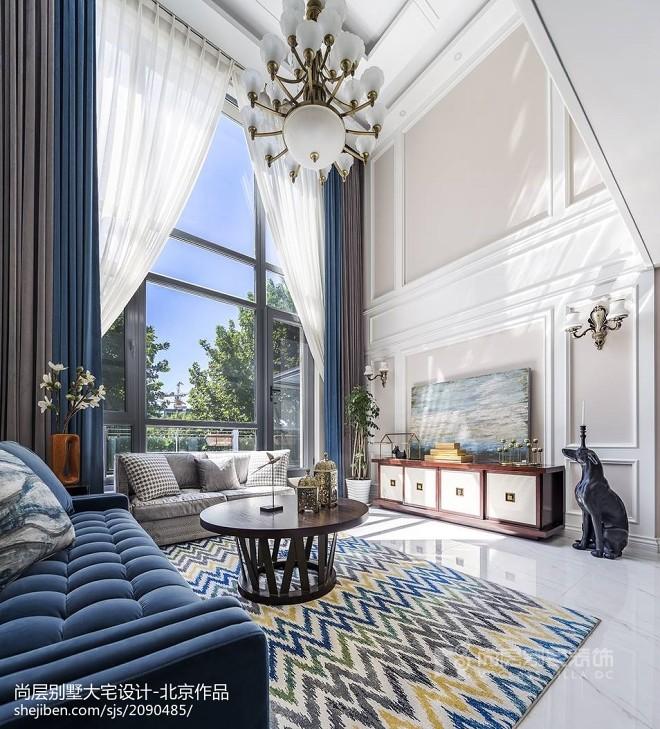西山庭院别墅客厅设计图片