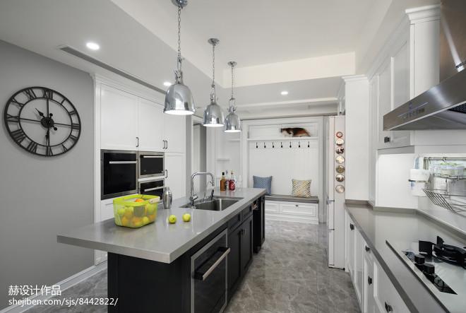 美式四居厨房吊灯设计图