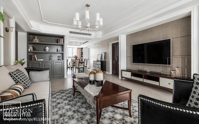 雅致美式客厅设计图片