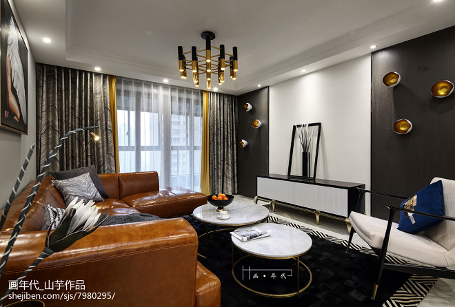 新古典四居客厅设计图片