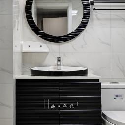 新古典四居卫浴洗手台设计图
