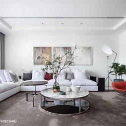 现代别墅客厅设计实景图