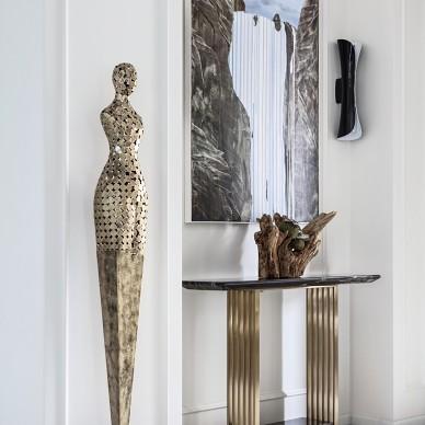 现代别墅玄关装饰画设计图