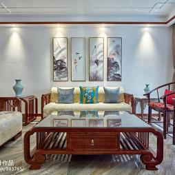 简约中式客厅设计图片