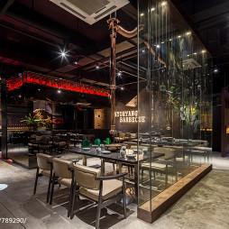 妙香山韩式烤肉店桌椅设计图片