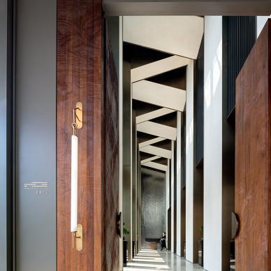 郡西云台销售中心走廊设计图片