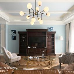 美式别墅客厅实景图