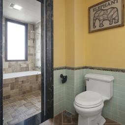 多色系美式别墅卫浴设计图