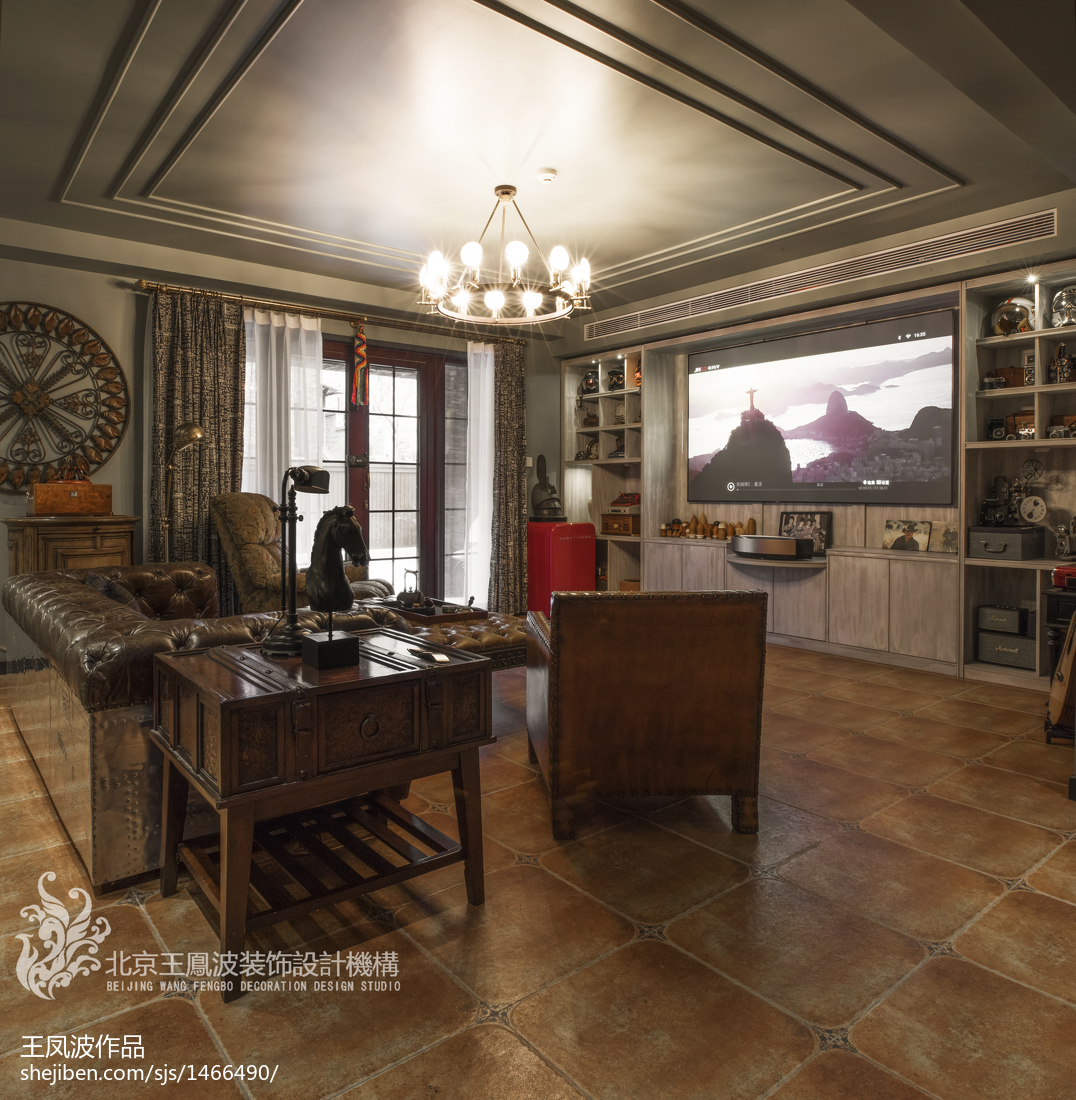 卫生间实景_混搭风别墅地下室设计实景图 – 设计本装修效果图