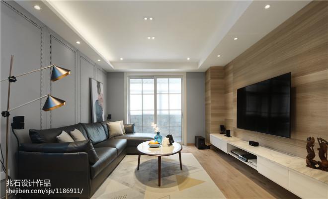 现代简约客厅设计实景图