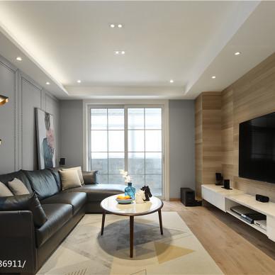 現代簡約客廳設計實景圖