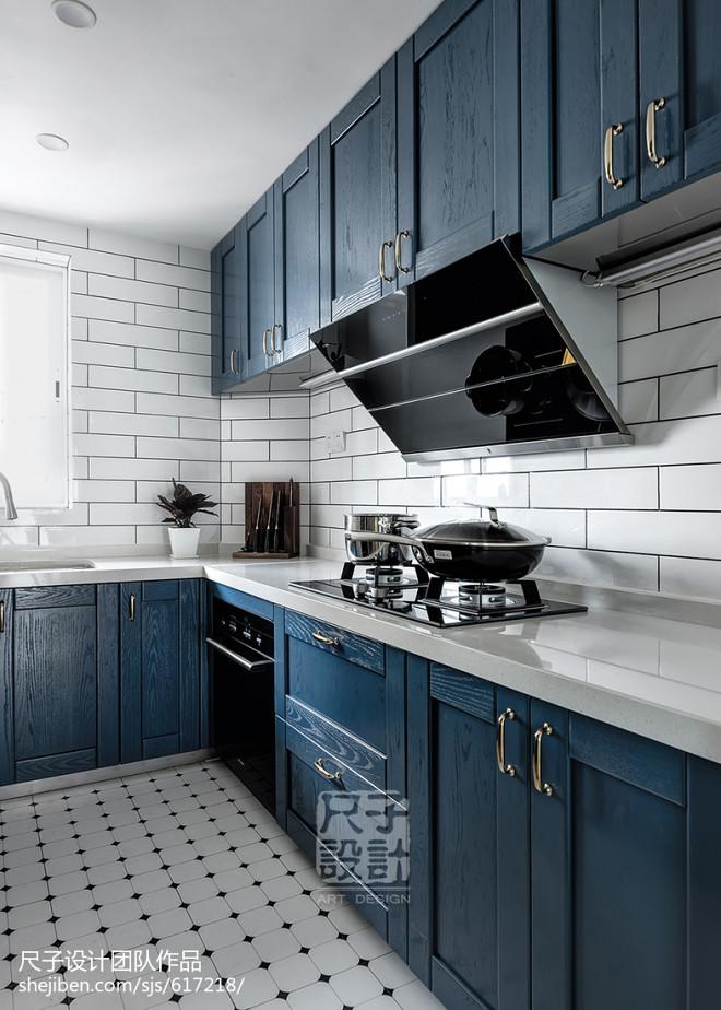 147㎡优雅简美风厨房设计图片