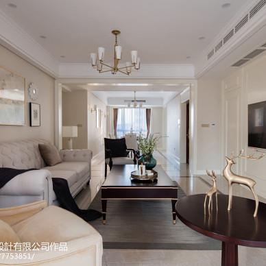 美式优雅三居客厅设计图片