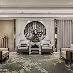 中式别墅客厅设计全景图