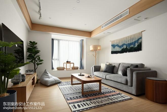 日式三居客厅设计实景图