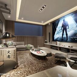 奢华现代别墅视听室设计图