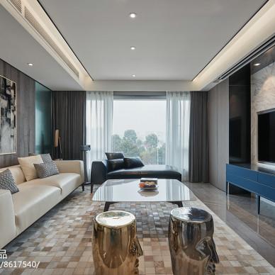 现代三居客厅设计全景图