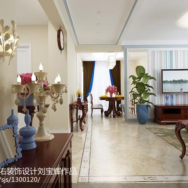 威海威高花园128平简欧设计  非中心电视墙方案_3177768