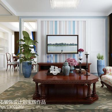 威海威高花园128平简欧设计  非中心电视墙方案_3177769
