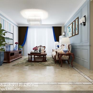 威海威高花园128平简欧设计  非中心电视墙方案_3177770