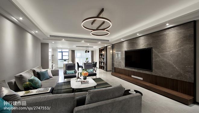 现代四居客厅吊灯设计图