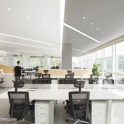 混搭风格办公室办公桌设计图