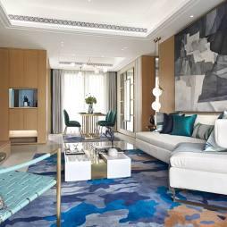 建发雍龙府高层样板房客厅设计图片