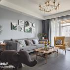 现代灰色系客厅设计图
