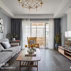 现代灰色系客厅设计图片