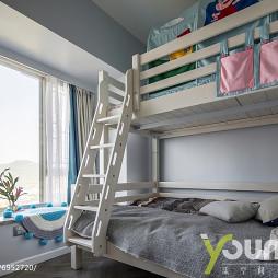 现代儿童房双人床设计图