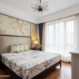 中式三居主卧室设计图