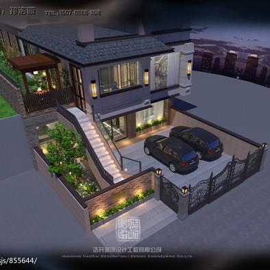 孙浩斯作品-奢华新中式别墅设计